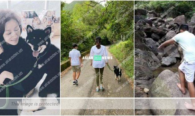 Michelle Reis takes her son Jayden Max for hiking