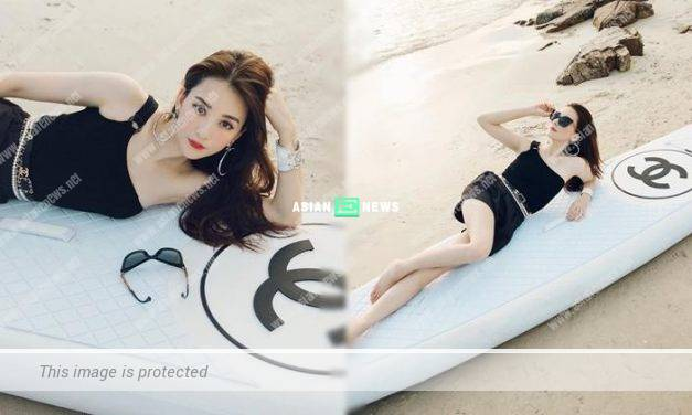Moka Fang won compliments when showing her branded wakeboard