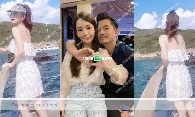 Aaron Kwok and his wife Moka Fang go out to the sea