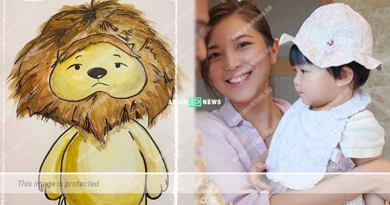 Phoebe Sin draws Lazy Lion for her daughter