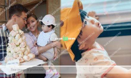 Ruco Chan takes photo of his daughter Quinta Chan