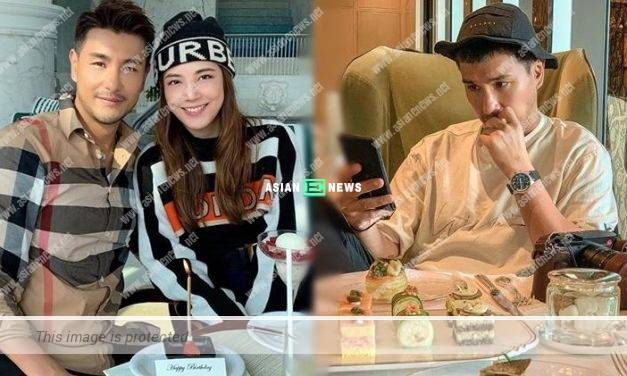 Ruco Chan accompanies his wife Phoebe Sin to eat desserts