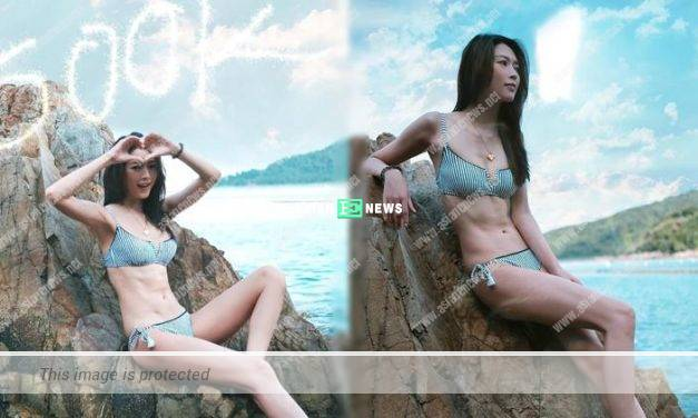 Shiga Lin shows her swimsuit photos: Thank you to my fans' supports