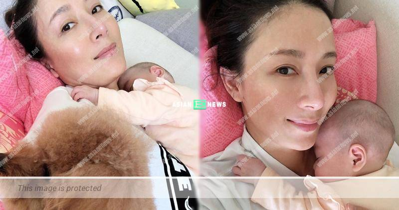 Is Him Law jealous? Tavia Yeung's daughter and dog are besides her