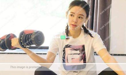 Expecting Zoie Tam continues to train at home
