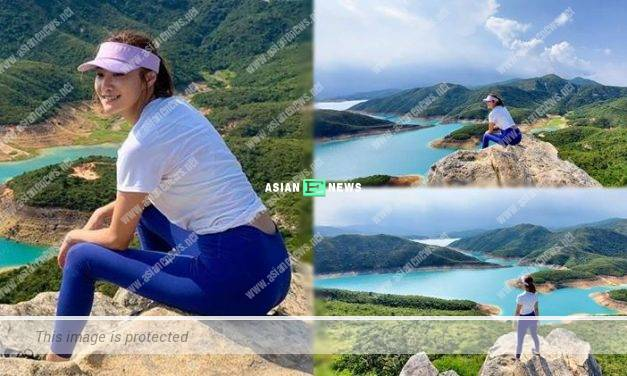 "Ashley Chu shows her hiking photos after ""hiding"" for 5 months"
