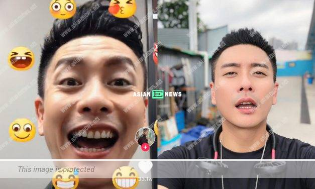 Bosco Wong shows his wrinkles when challenging different expressions