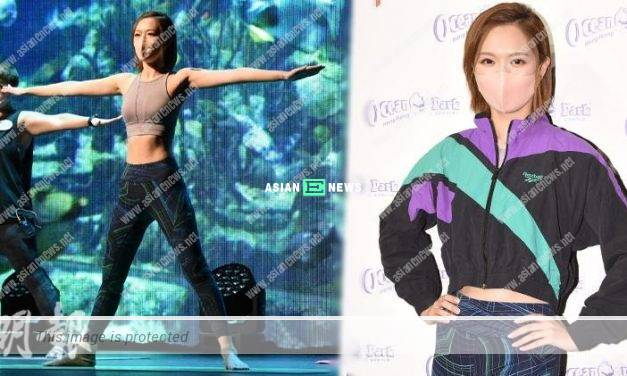 Crystal Fung performs yoga and shows her fit body figure