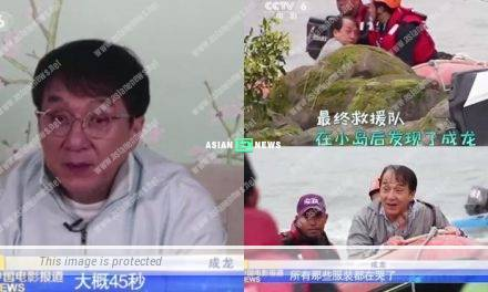 Jackie Chan is nearly drowned when shooting Vanguard film