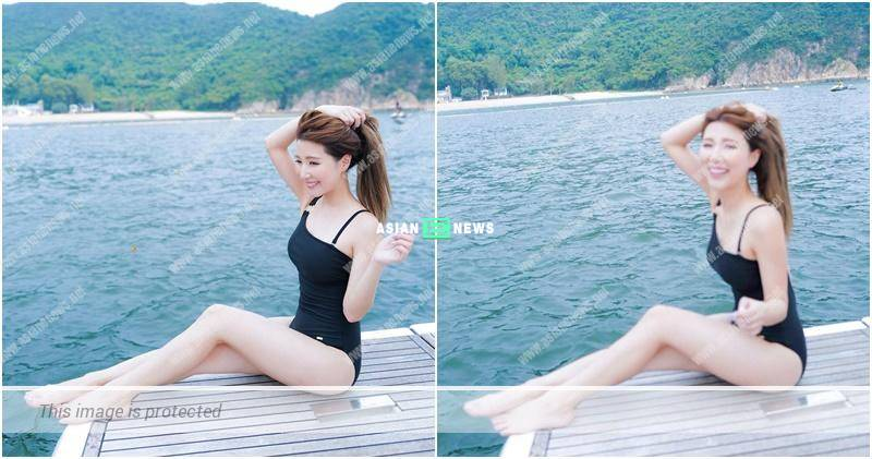 Confident Kayee Tam shows her swimsuit photos