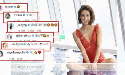 Linda Chung wears swimsuit and shows her fit body figure