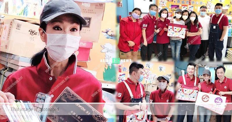 Kind-hearted Michelle Yim donates stationeries to the children