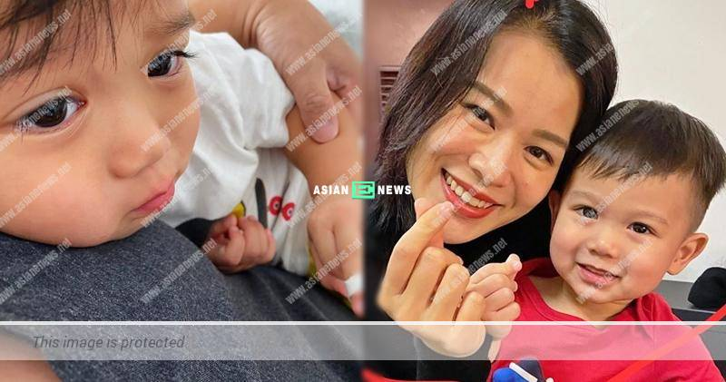 Myolie Wu's son hurts his finger and needs to call for an ambulance?