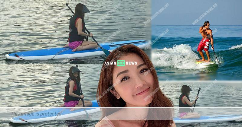 Charlene Choi's fans laugh at her when she plays paddle board