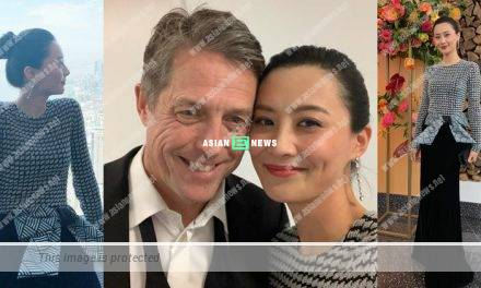 Fala Chen takes photo with English actor Hugh Grant