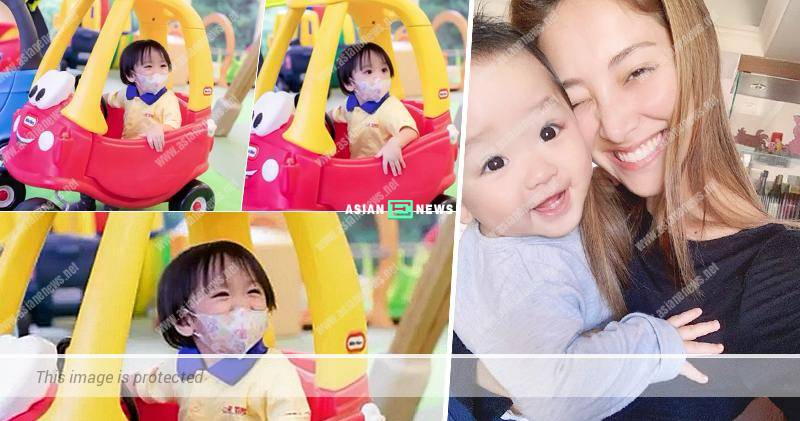 Grace Chan has a complicated feeling when taking her son to Playgroup