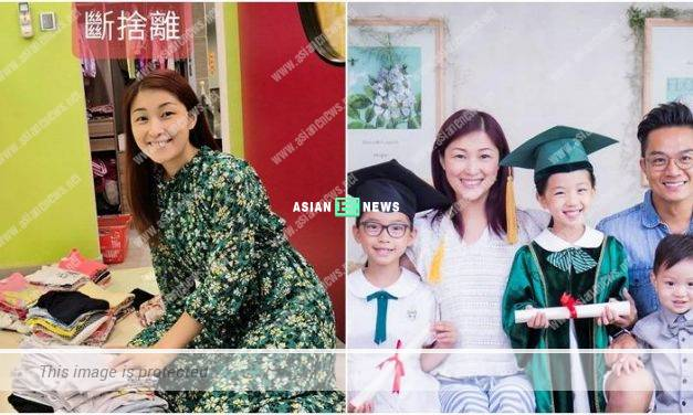 Jack Wu's wife June Chan gives her old clothes away