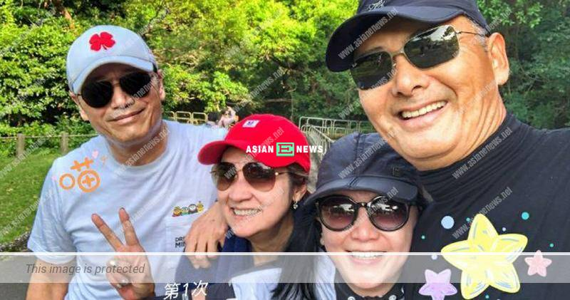 Margie Tsang goes for hiking with superstar Chow Yun Fat