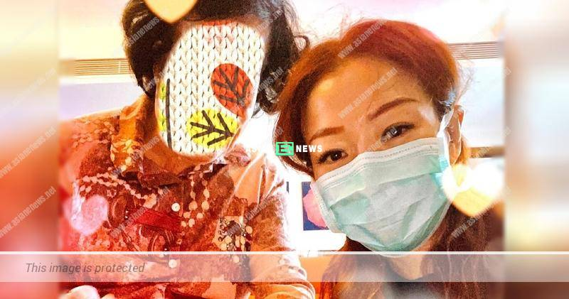 Cautious Sammi Cheng wears face mask when visiting her mother
