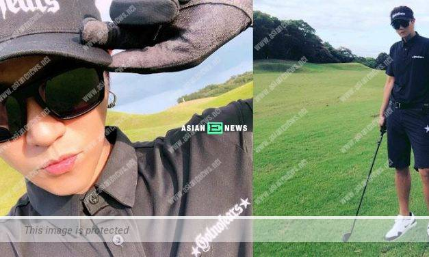 Waiting to make an on-screen comeback? Show Lo continues to play golf