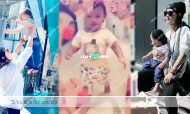 Cecilia Cheung's third son Marcus Cheung looks chubby and resembles his father?
