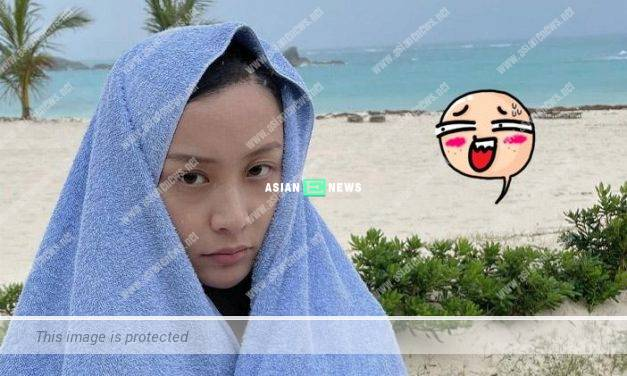 Fala Chen is drenched due to ignoring weather forecast warning