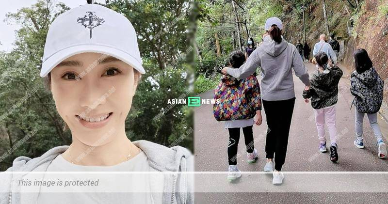 Gigi Lai takes her daughters for hiking