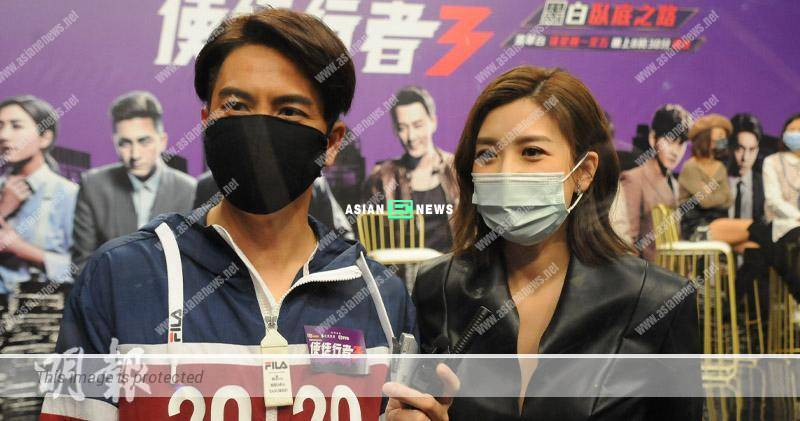 Urging to settle down? Mandy Wong points the arrow at Kenneth Ma