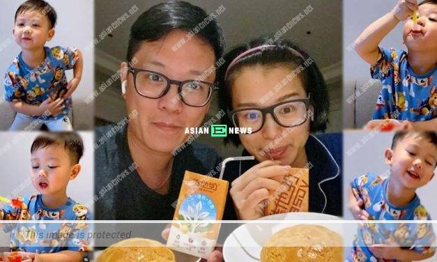 Because of Philip Lee? Myolie Wu's son Brendan loves to eat jelly