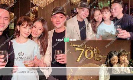 Ruby Lin and Wallace Huo celebrate her father's birthday together