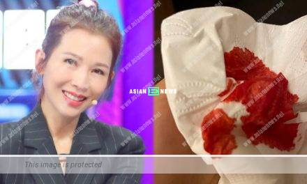 Ada Choi shows a tissue containing blood which frightens the netizens