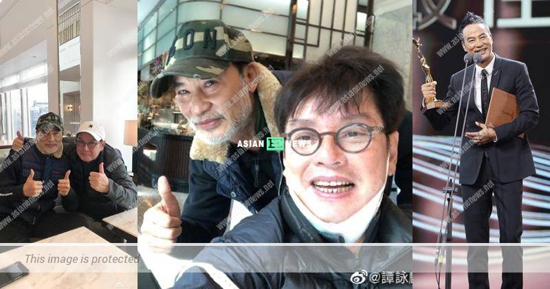 Simon Yam has white moustache and looks older than Alan Tam?