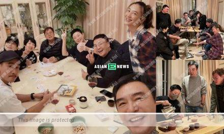 Charmaine Sheh attends a gathering at Alan Tam's house