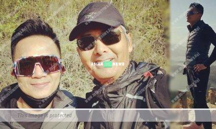 Lucky Jack Wu bumps into Chow Yun Fat during hiking