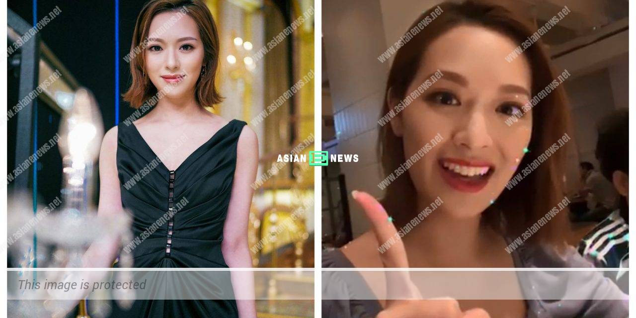Crystal Fung eats her first meal at night and plays live broadcast