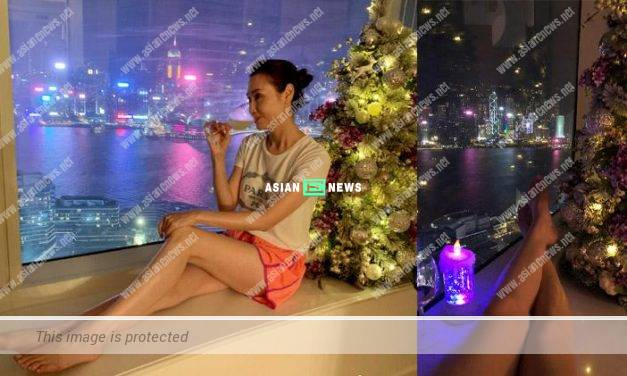 51-year-old Kenix Kwok sees beautiful night sceneries in her luxurious mansion