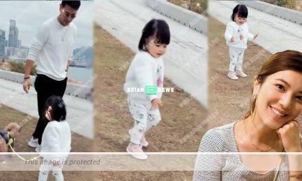 Ruco Chan and his daughter do not wear face masks at the beach