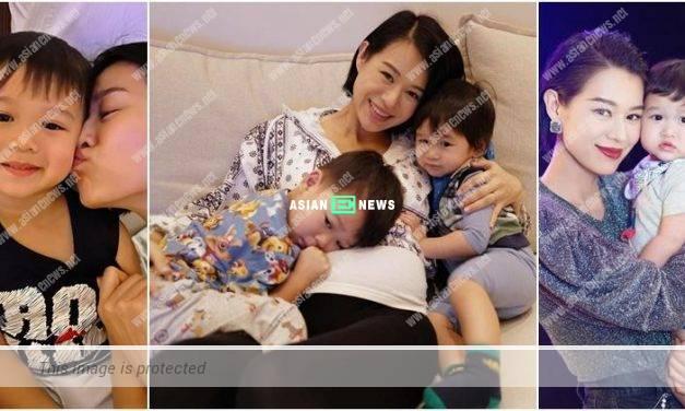 Myolie Wu hugs her sons; It is full of family warmth