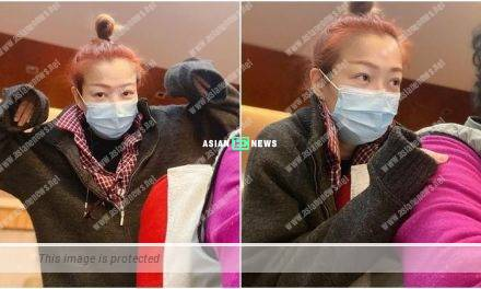 Filial Sammi Cheng watches television with her mother at home