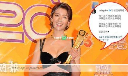 TV Queen Sisley Choi responds to the criticisms: I will take it as motivation