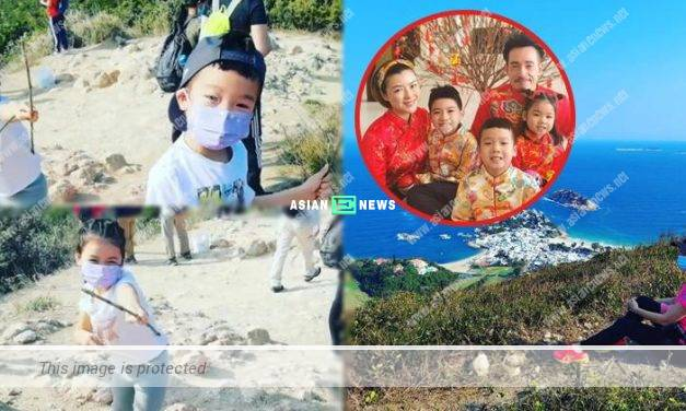 Aimee Chan and her children went for hiking for 3 hours