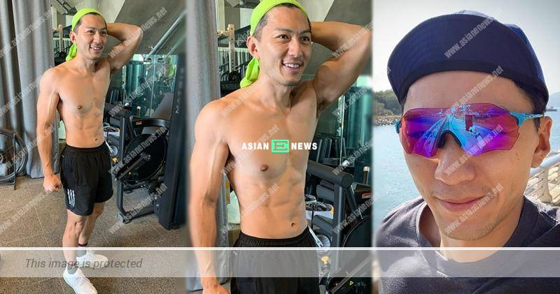 Benjamin Yuen shows his fit and muscular body