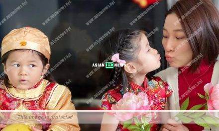 Linda Chung's son is jealous when she kisses her daughter?