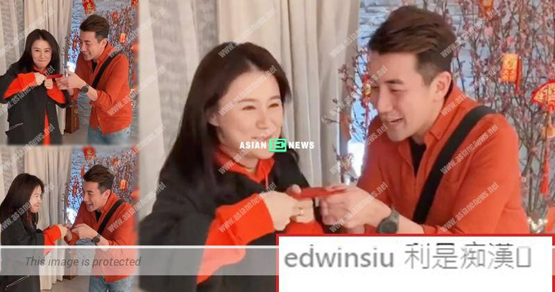 Priscilla Wong gives red packet to Tony Hung reluctantly