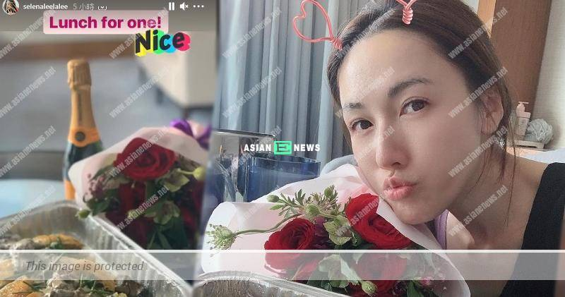 Selena Lee and her mysterious fiance show their love in the air