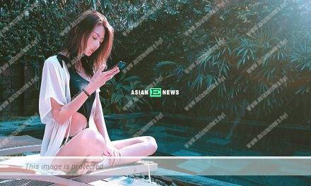 Shiga Lin tries catwalk and reveals her 43 inches long legs