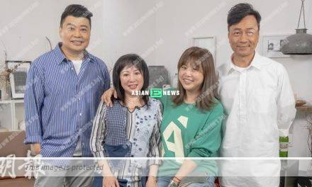 Wayne Lai and Louis Yuen behave seriously when Mui Siu Ching is around