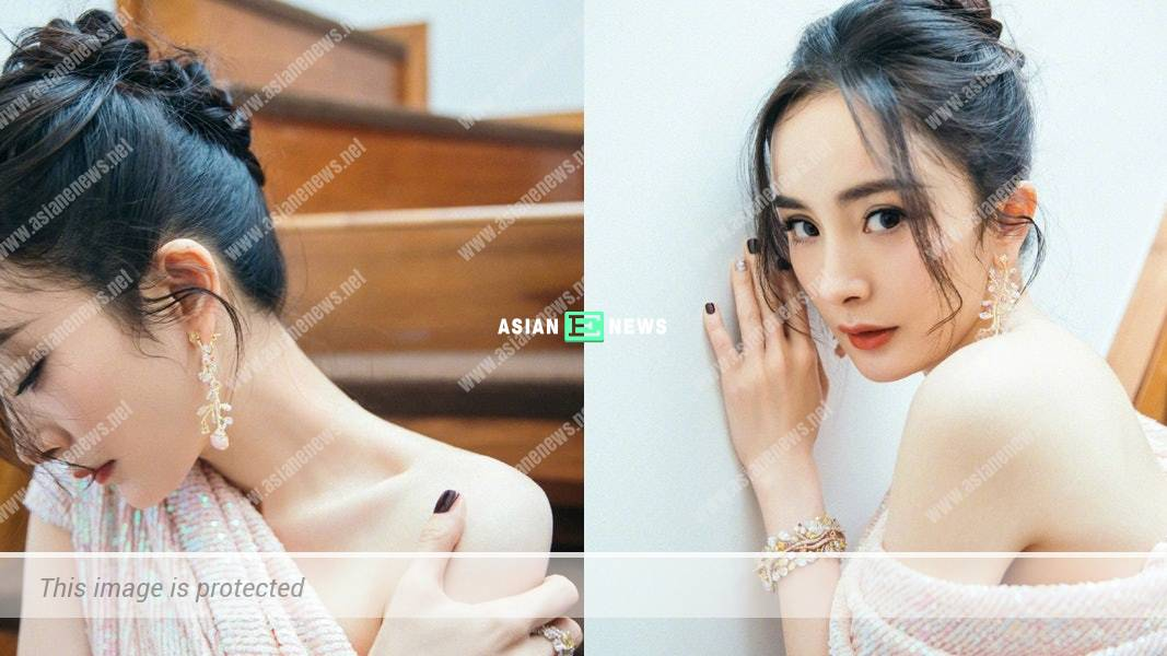 Chinese star Yang Mi shows her sexy photos to promote her new film