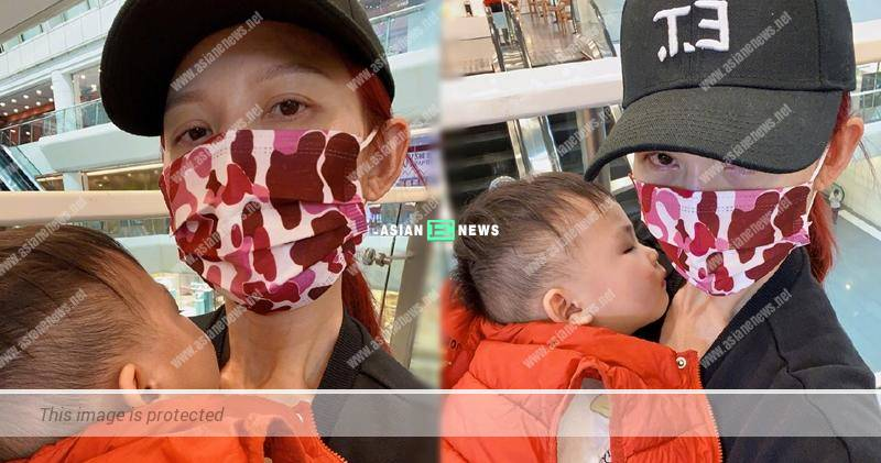 Ada Choi has red eyes and looks tired due to taking care of her family?