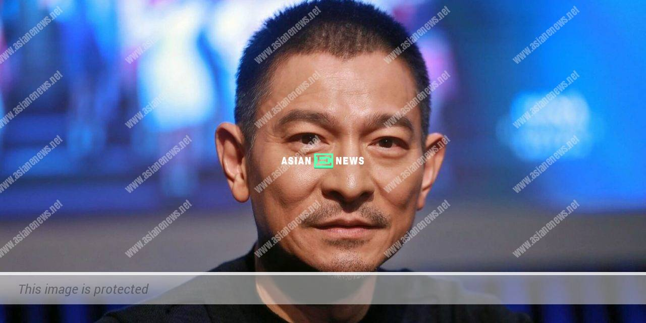Andy Lau reveals his healthy scalp in the video